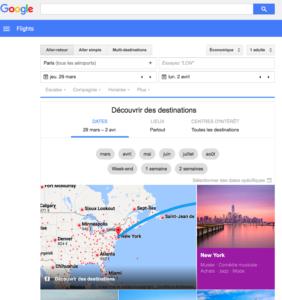 Google destination -des conséquences pour le e tourisme et leur ranking - référencement naturel