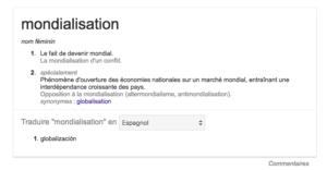 Référencement naturel résultat de la recherche + traduction