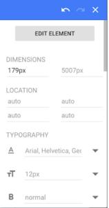 la palette d'édition - agence webanalytics Bee4