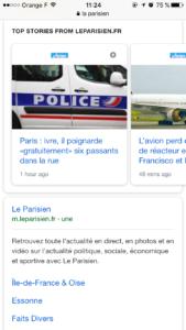 Exemple du modele AMP Stories de Google