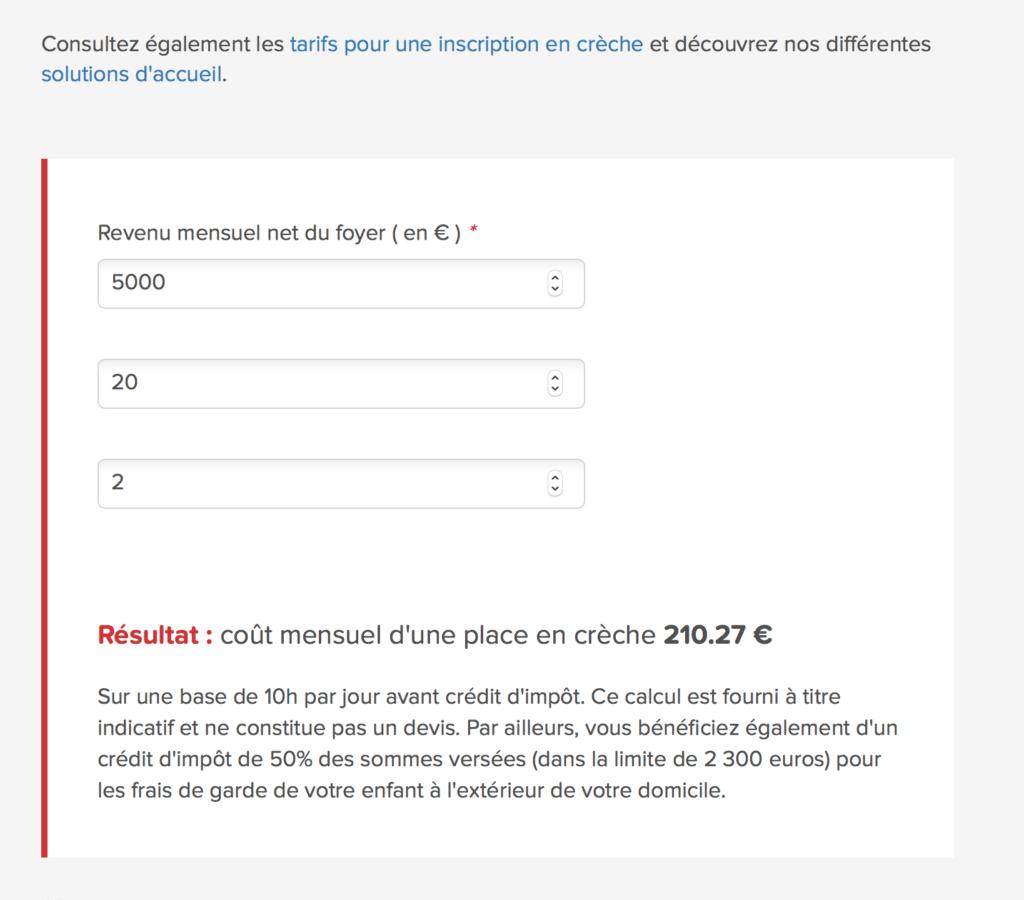 Exemple formulaire crèche rempli par Bee4 Agence SEI