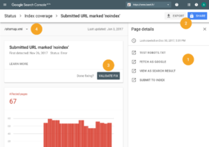 Indexation Search Console