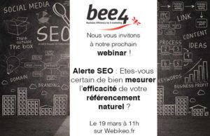 Webinar SEO : Etes-vous certain de bien mesurer l'efficacité de votre référencement naturel ?
